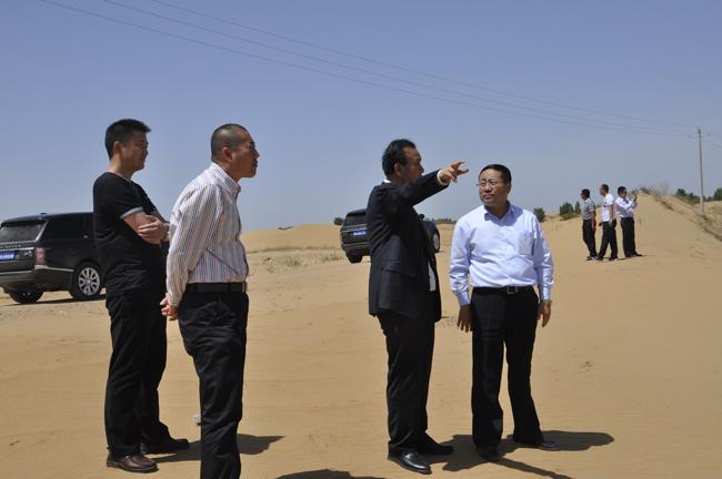 内蒙古汇能煤电集团有限公司董事长郭金树来我集团考察